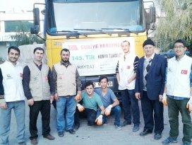Hayrat İnsani Yardım Derneği'nden Suriye'ye yardım eli