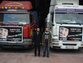 Konyadan Suriyeye insani yardım
