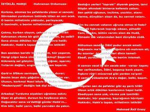 İstiklal Marşını güzel okuma yarışması yapıldı