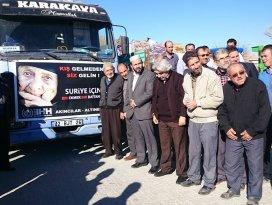 Altınekinden Türkmenlere insani yardım