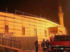 Tarihi camide yangın