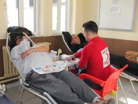 Seydişehir Emniyet personelinden kan bağışı