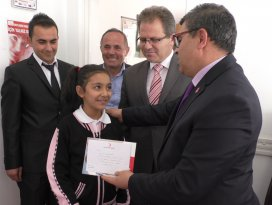 Beyşehirde yarışmalarda dereceye giren öğrencilere ödül