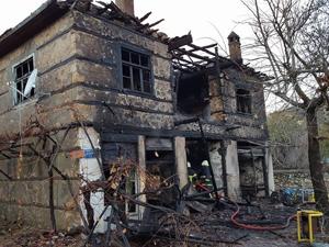 Konyada ev yangını