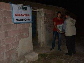 Sarayönü'nde gıda yardımları sürüyor