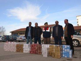 Konyada 10 bin paket kaçak sigara ele geçirildi