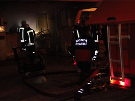 Kuaför salonunda yangın
