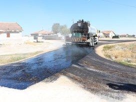 Karatay'da merkeze uzak mahallelerde asfaltlama çalışmaları