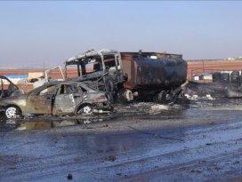 Rusya yakıt pazarına saldırdı: 25 ölü
