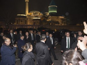 Erdoğan ve Davutoğlu Mevlana Müzesini ziyaret etti