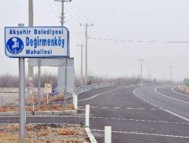 Akşehirde yeni mahallelere yeni tabela
