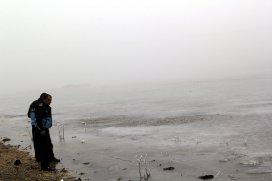 Cihanbeyli göleti buz tuttu