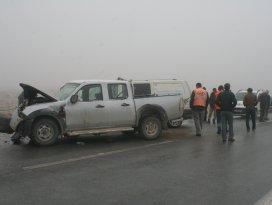 Konyada komyonet ile minibüs çarpıştı: 1 ölü, 8 yaralı