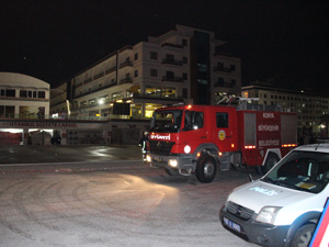 Konya'da pazar yerinde yangın