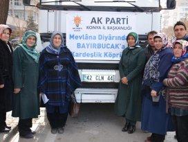 AK Parti Konya İl Başkanlığından Bayırbucak Türkmenlerine yardım