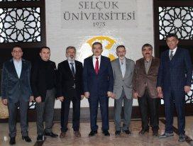 MÜSİAD Konya'dan Rektör Şahin ve yardımcılarına ziyaret