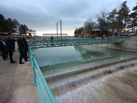 Beyşehir Belediyesinden kanal içerisinde şelale projesi