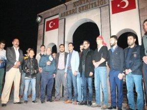 Konyada Ankara ve Diyarbakırdaki terör olaylarına tepki
