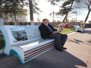 Konuşan banklar Beyşehiri tanıtıyor