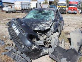 Konyada otomobil devrildi: 1 ölü, 1 yaralı