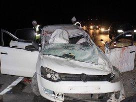 Konyada polis kaza yaptı: 1 ölü, 1 yaralı