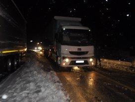 Alacabelde ulaşıma kar engeli