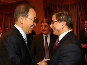 Davutoğlu BM Genel Sekreteri Ban ile görüştü