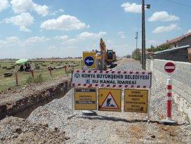 Cihanbeyli'de 3 mahalleye kanalizasyon şebekesi