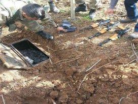 Şırnakta toprağa gömülü silahlar bulundu