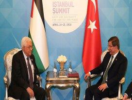 Başbakan Davutoğlu, Abbas ile görüştü