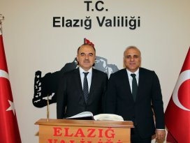 Konya Valisi Eroldan, Elazığ Valisine ziyaret