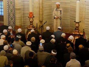 Diyanet İşleri Başkanı, Selimiyede namaz kıldırdı
