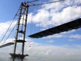 İzmit Körfez Geçişi Asma Köprüsünde sona doğru