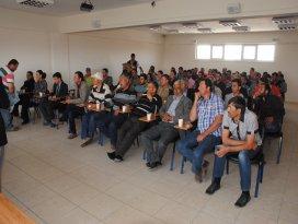 Genç çiftçilere hibe desteği anlatıldı