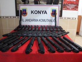 Konyada kaçak silah operasyonu