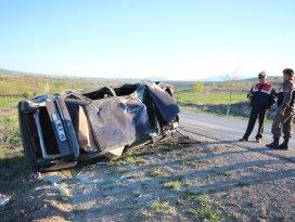 Konyada otomobil devrildi: 1 ölü