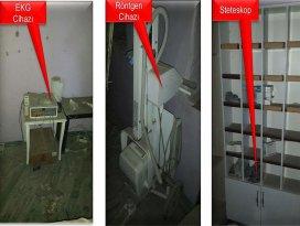 Teröristlerce kullanılan tıbbi cihaz ve malzemeler bulundu