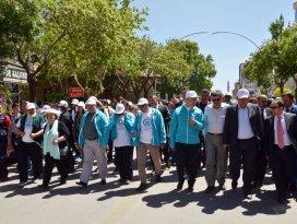 Sevgi ve Barış Yürüyüşü Karamandan başladı
