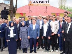 Davutoğlu AK Parti Varto İlçe Başkanlığının açılışını yaptı