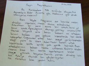 Kız öğrenciler mektupla yardım istedi