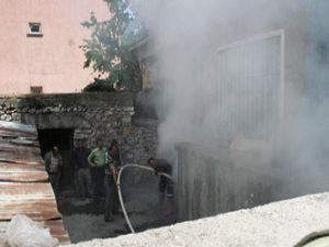 Beyşehirde korkutan yangın