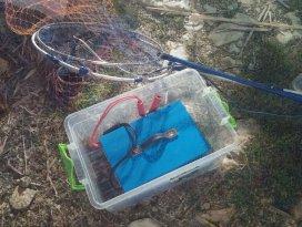 Gölde balık avına muhtarlık baskını