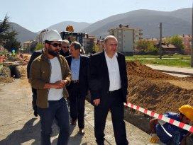 Akşehir'de doğalgaz çalışmaları devam ediyor