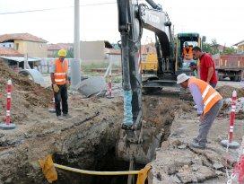 Üç mahalleye 43 kilometre kanalizasyon şebekesi