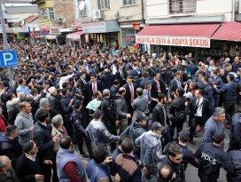 Konyada Başbakan Davutoğlu izdihamı