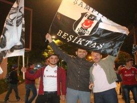 Konyada Beşiktaşlı taraftarların galibiyet kutlaması