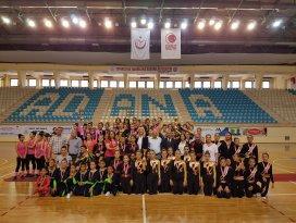 Okullararası step aerobik cimnastik il birinciliği tamamlandı