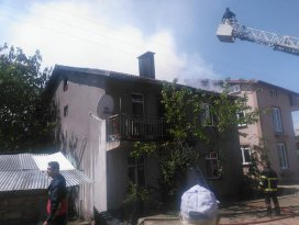 Beyşehirde ev yangını