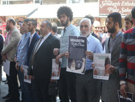 Nizaminin idam edilmesi, Konyada protesto edildi