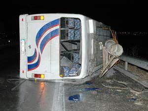 Yolcu Otobüsü Devrildi: 1 Ölü, 20 Yaralı